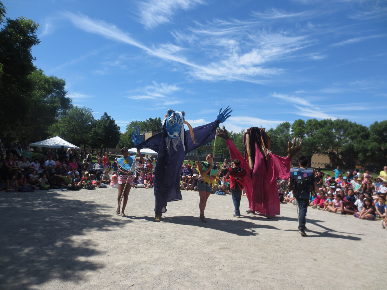 Four Season Pageant with First Nations School by Pamela Schuller