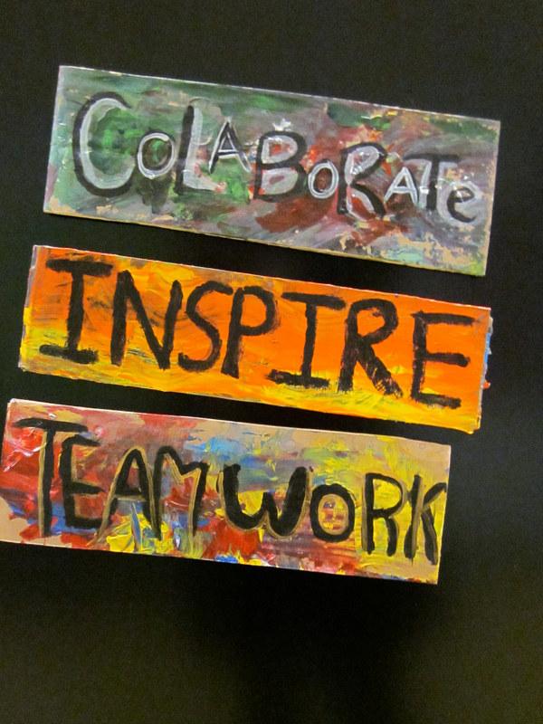 Collaborate Inspire Teamwork - Pamela Schuller - Mask Maker, Arts ...