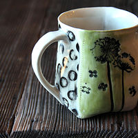 Stamped Mug by Jocelyn Duchek