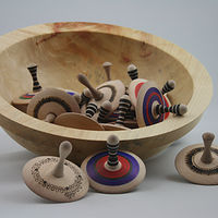 Photography Maple Bowl & Spin Tops  by Jocelyn Duchek