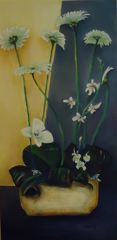 Oil painting Ann's Arrangement by Michelle Marcotte