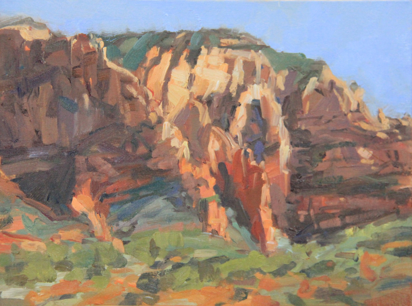 Painting Sedona Plein air II by Susette Gertsch
