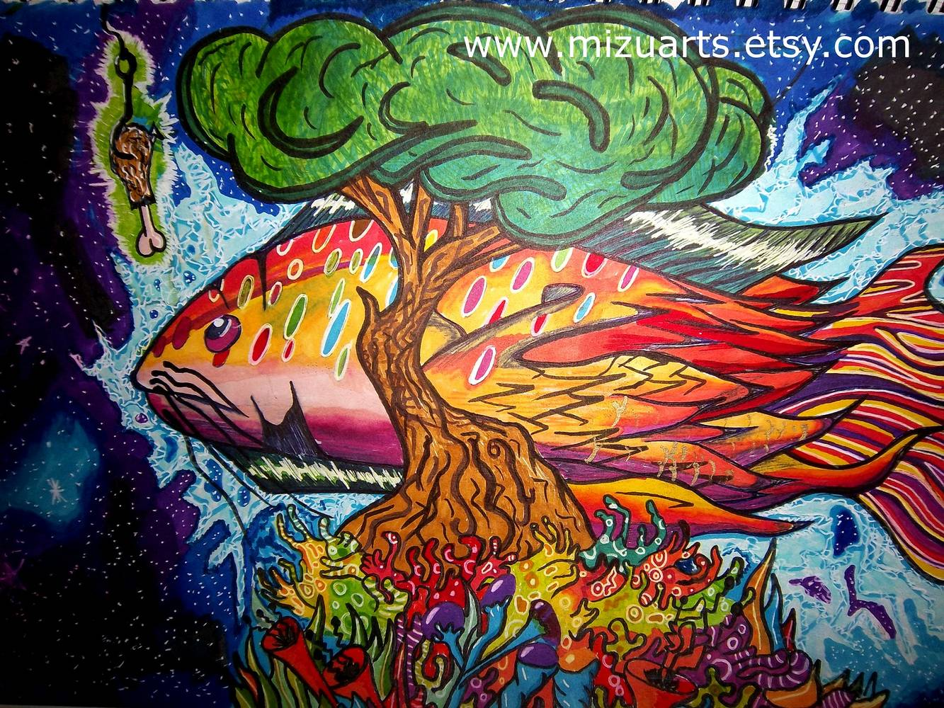 Electric Rainbow Catfish by Isaac Carpenter