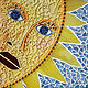 Mixed-media artwork Mr. Golden Sun by Linda Biggers