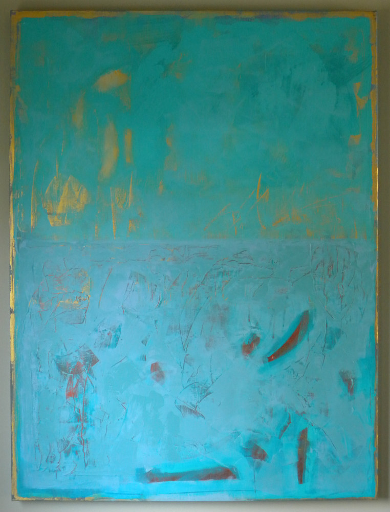 "Painting ""Interference Turquoise"" by Gordon Sellen"