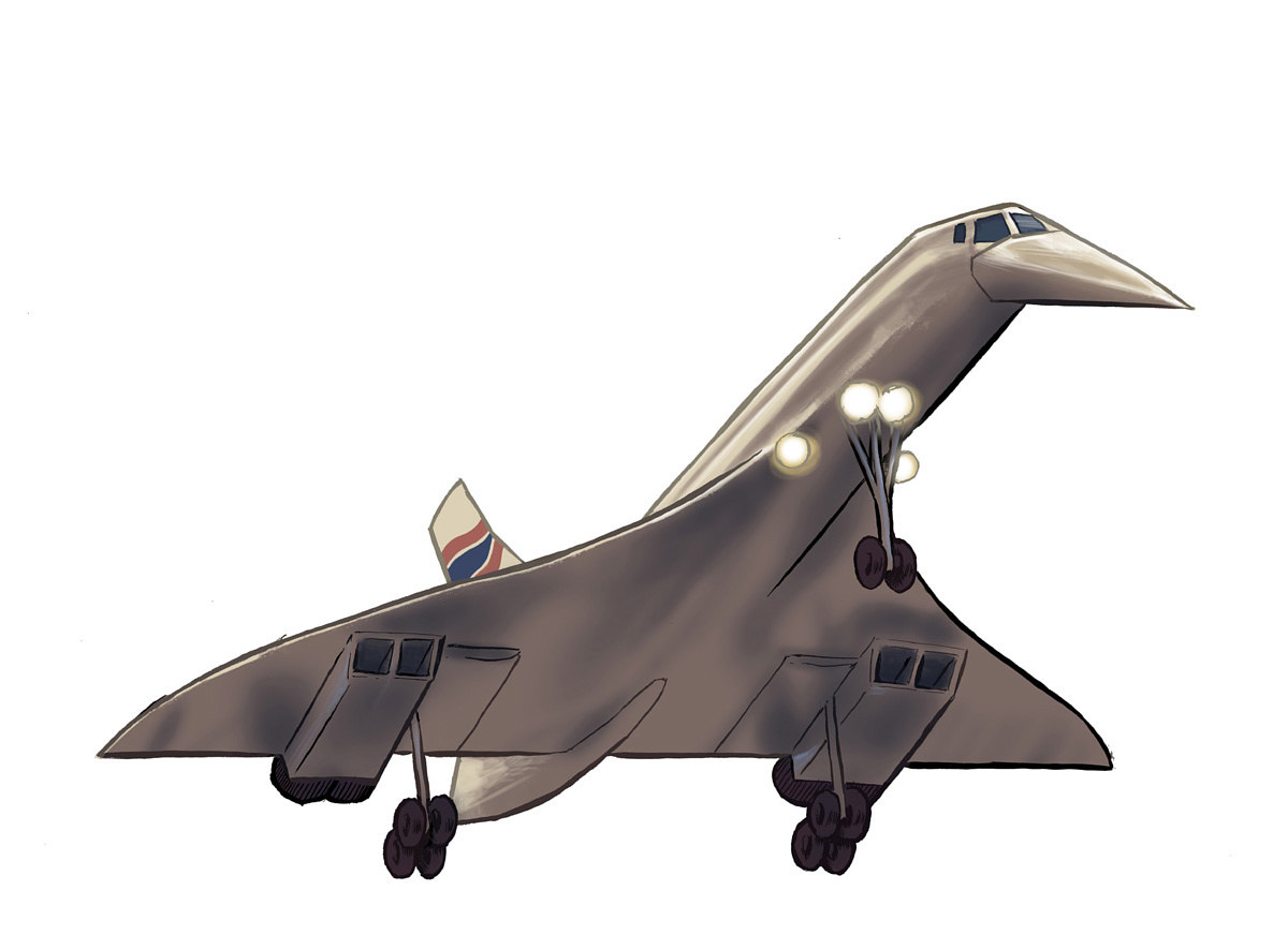 Drawing Concorde by Hendrik Gericke