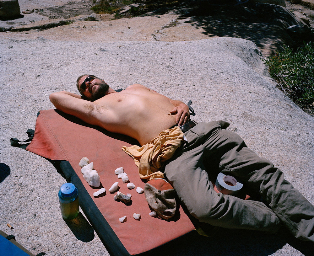 Jay sunbathing at Vogelsang High Camp 2013 by Michael Woodlee