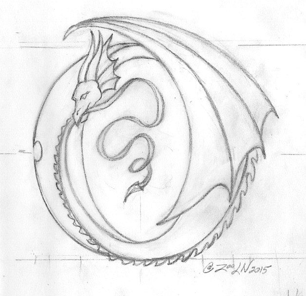 "Drawing hicsuntdraco sketch ""O"" by Sue Ellen Brown"