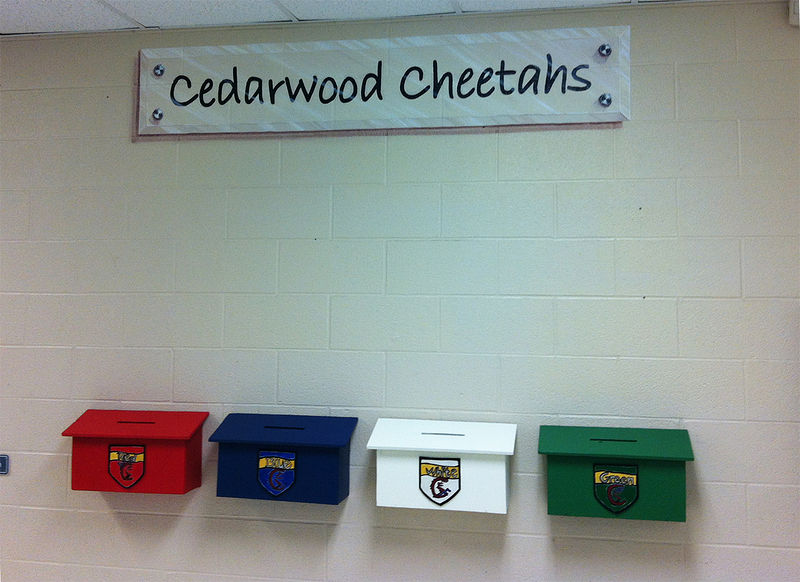 Acrylic painting Cedarwood P.S. Cheetahs Faux Signage by Cindy Scaife
