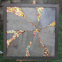What Lies Within (shown with frame) by Linda Biggers
