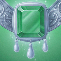 Acrylic painting The Emerald Medallion by Sue Ellen Brown