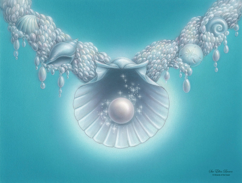 Acrylic painting The Pearl Medallion by Sue Ellen Brown