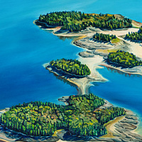 Oil painting L'Etang Islands by Michael McEwing