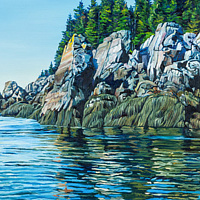 Oil painting Mowat Island by Michael McEwing