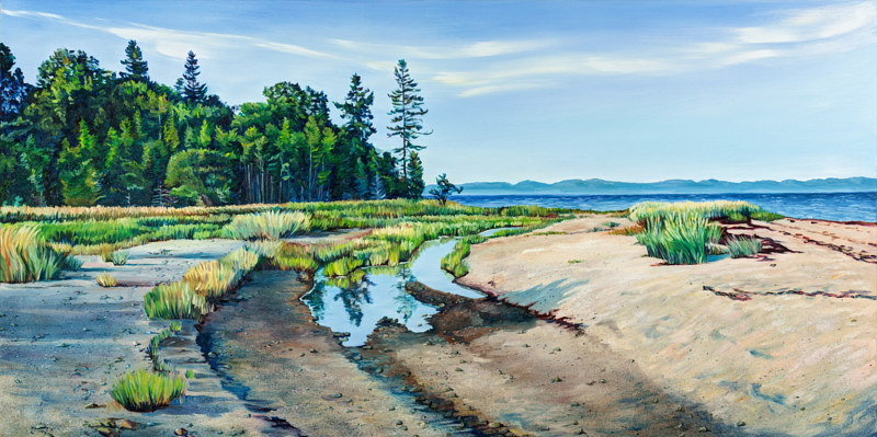 Oil painting Little Forest on Pagan Point by Michael McEwing