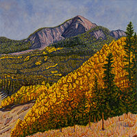 Oil painting Fall In the La Sals by Crystal Dipietro