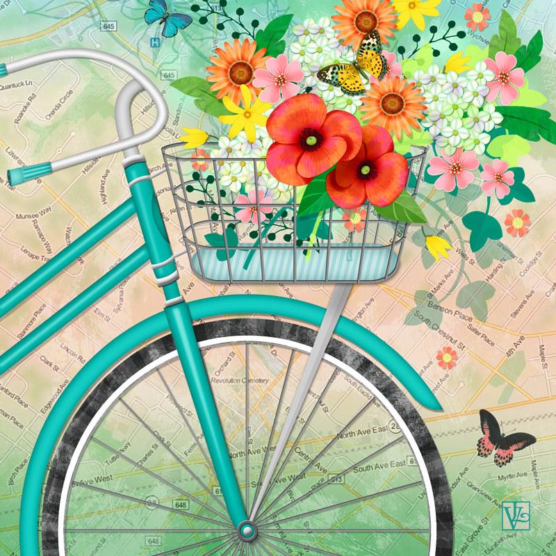 Paint Basket Art Lessons : Bicycle bouquet picture book studio