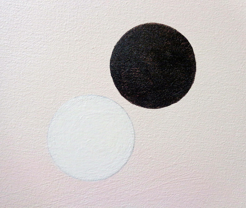 Acrylic painting Quadrant Bearing II detail by Amarie Bergman