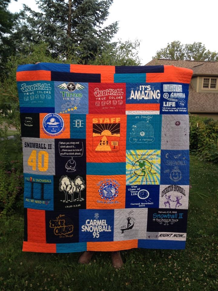 Tshirt Quilt by Maday Delgado
