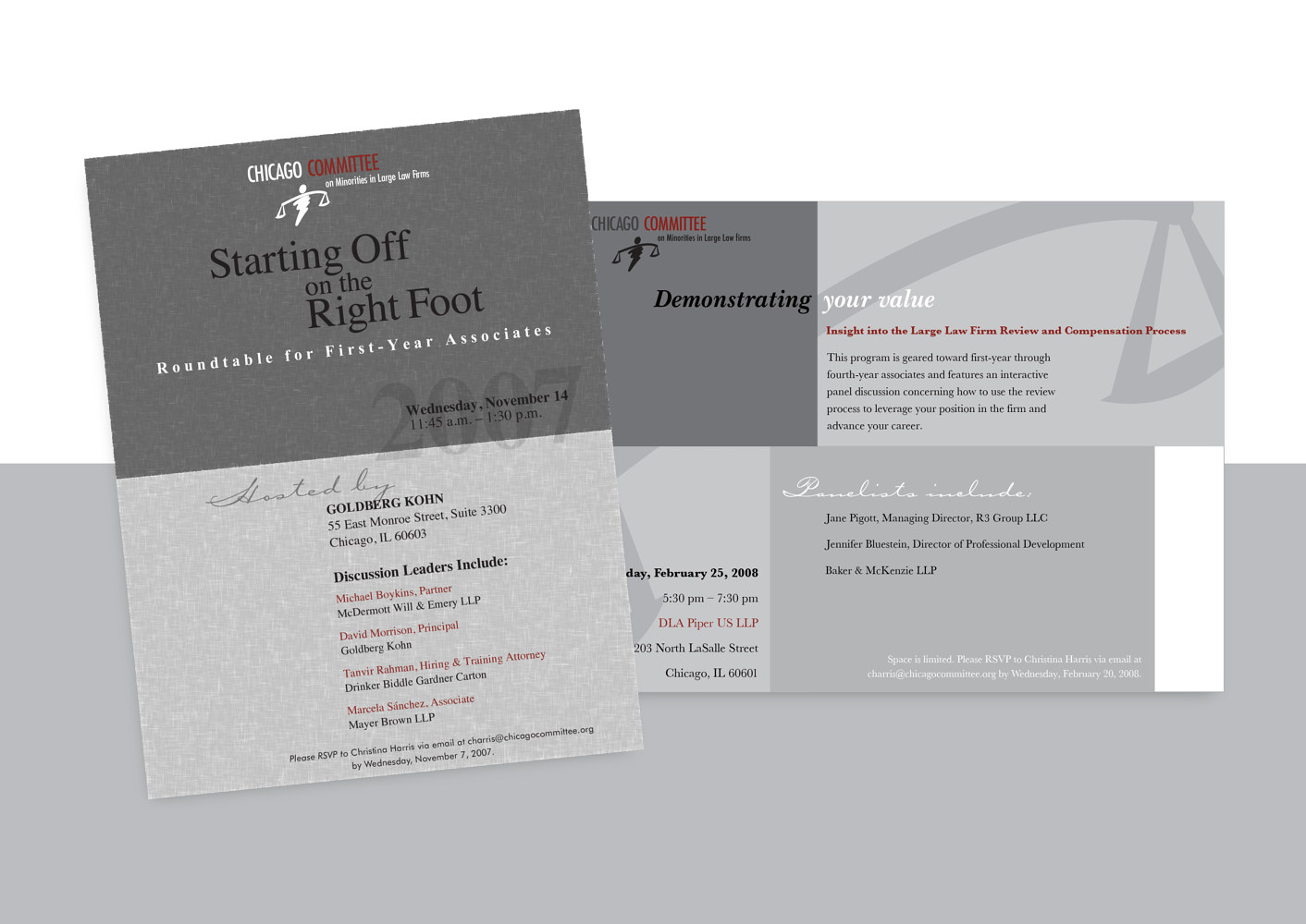 Chicago Committee | Non-Profit | Invitations by Nathalie Gribinski