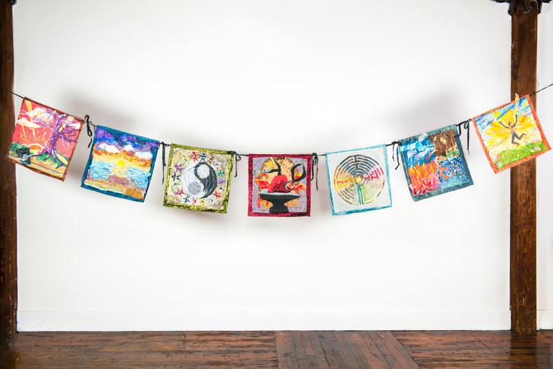 Prayer Flags (Installed) by Anya Doll
