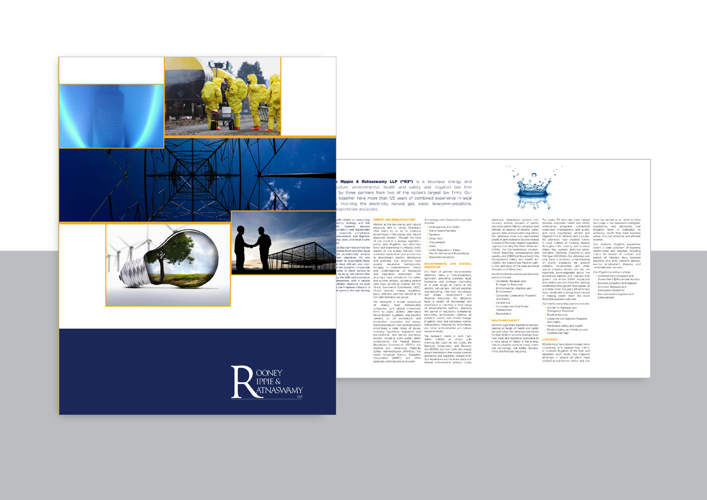 Rooney, Rippie and Ratnaswamy | Law Firm | Brochure by Nathalie Gribinski