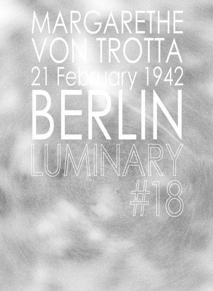 Photography Luminary #18, Margarethe von Trotta by Amarie Bergman