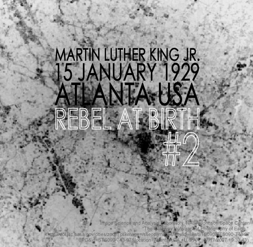 Photography Birth of a Rebel #2, Martin Luther King by Amarie Bergman