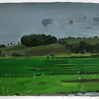 Acrylic painting Rain Day, 10 Saved Acres by Harry Stooshinoff