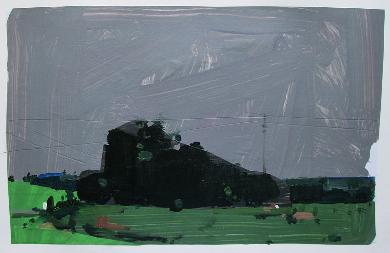 Acrylic painting Evening Rain, June 30 by Harry Stooshinoff