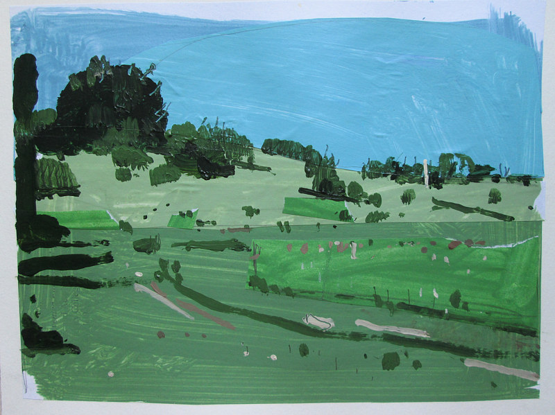 Acrylic painting Lost Dog Hill, July 3 by Harry Stooshinoff
