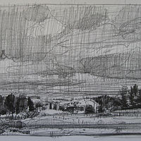 Drawing Morning, Racetrack Road by Harry Stooshinoff