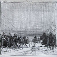 Drawing February Snow by Harry Stooshinoff