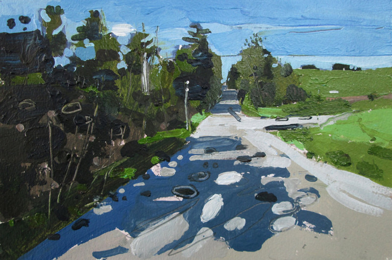 Acrylic painting May 26, Home Line by Harry Stooshinoff