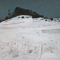 Acrylic painting Snow Bound, February by Harry Stooshinoff