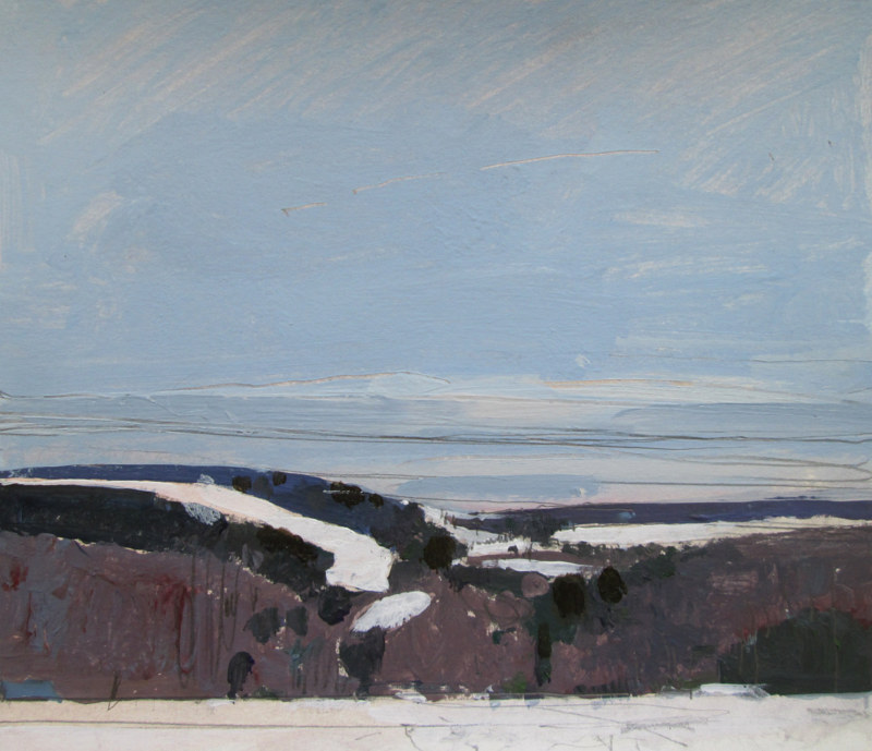 Acrylic painting Ida Hills, March 11  by Harry Stooshinoff