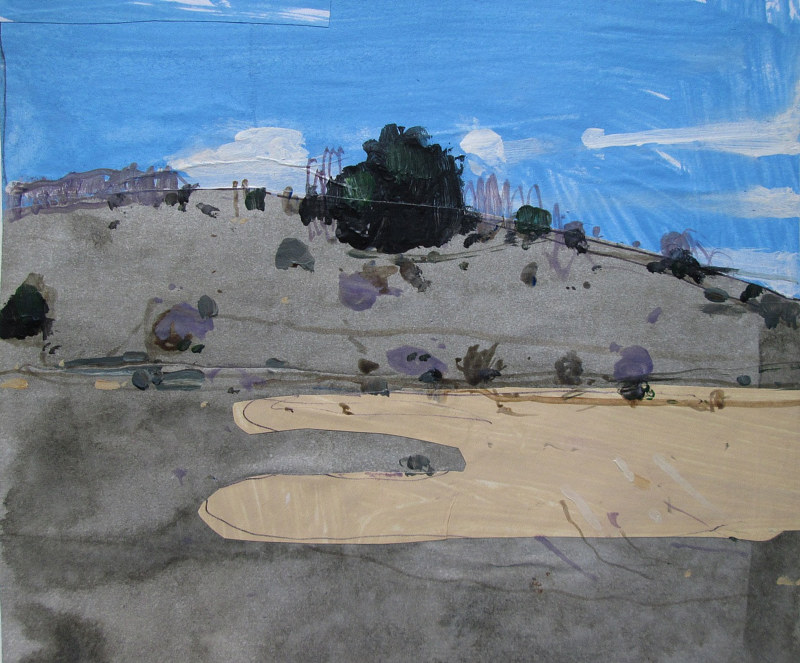 Acrylic painting November 24, 3:00 pm, Lost Dog Hill by Harry Stooshinoff