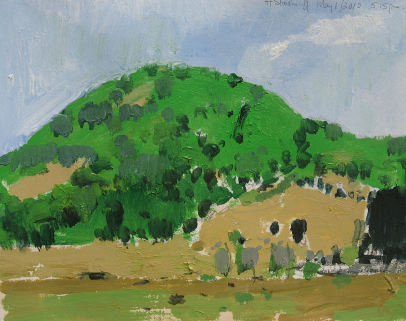 Acrylic painting First Green, Fox Hill by Harry Stooshinoff