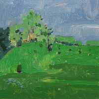 Acrylic painting May 29, Lost Dog Hill by Harry Stooshinoff