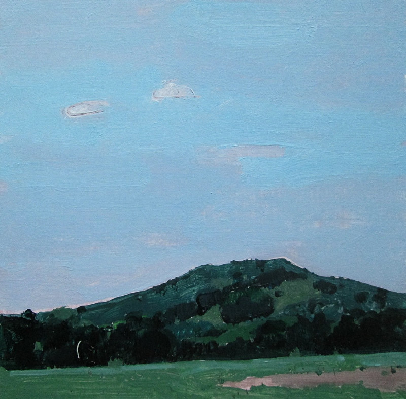 Acrylic painting Garden Hill, July by Harry Stooshinoff