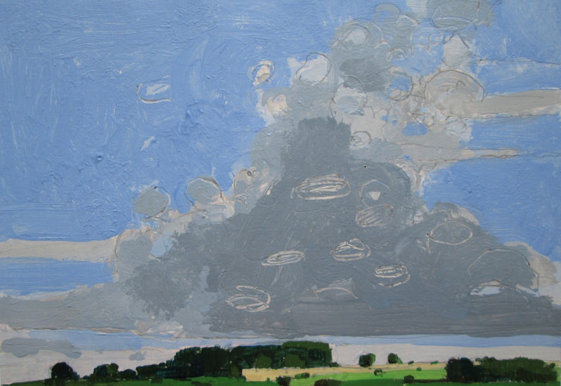 Acrylic painting Highway Sky, July 17 by Harry Stooshinoff