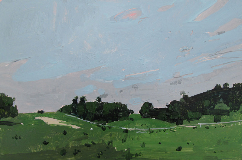 Acrylic painting Valley Pasture by Harry Stooshinoff