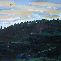 Acrylic painting Nightfall, November by Harry Stooshinoff