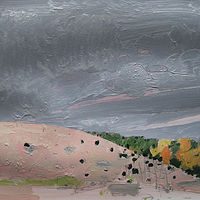 Acrylic painting October 5, Hillside by Harry Stooshinoff