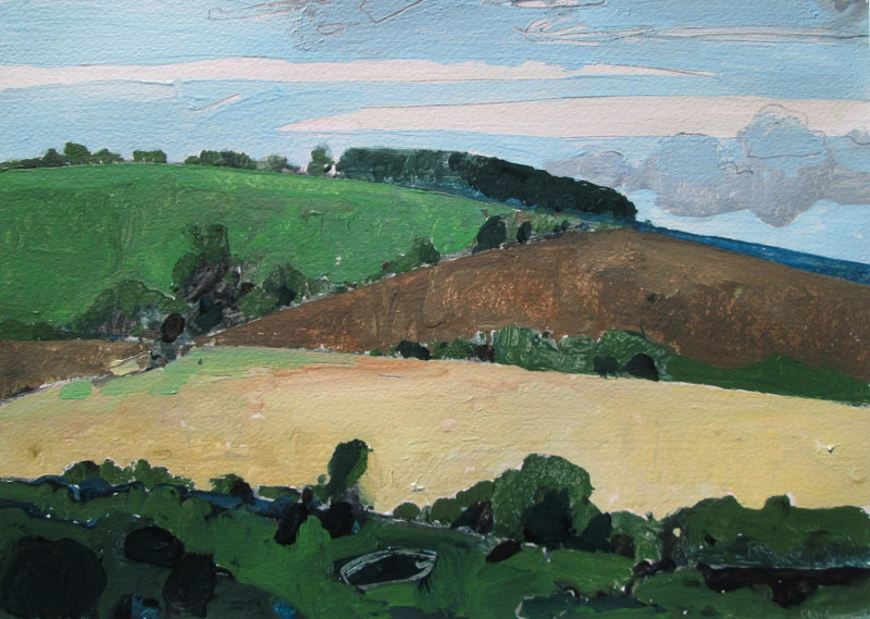 Acrylic painting Ridge, Near Garden Hill by Harry Stooshinoff