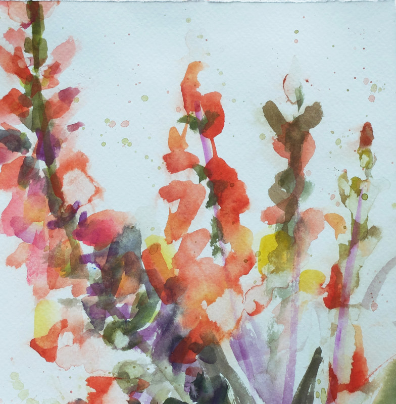 Watercolor First Digiplexis  by Edith dora Rey