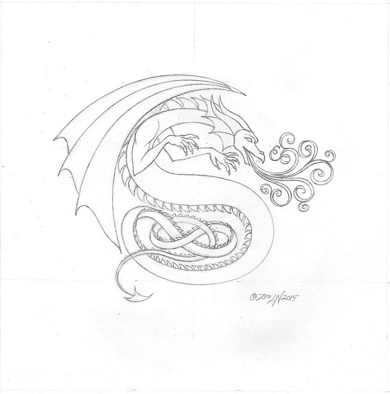 "hicsuntdraco sketch ""S""-1.2, tight by Sue Ellen Brown"