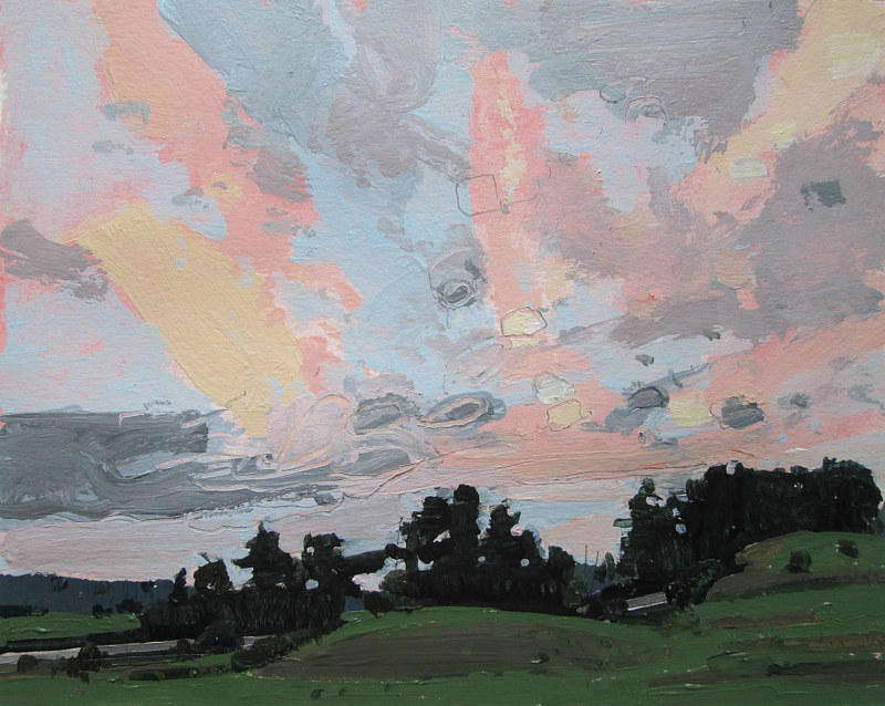 Acrylic painting Clearing, Dusk by Harry Stooshinoff