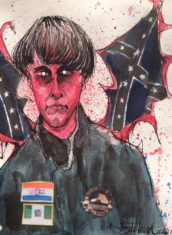 Drawing dylannroof by Joey Feldman