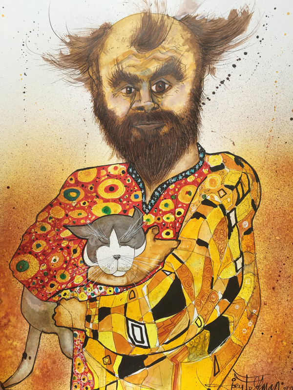 Mixed-media artwork klimnt by Joey Feldman